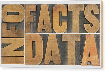 Wood Print featuring the photograph Information Data Facts by Marek Uliasz