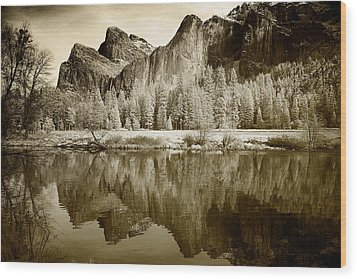 Infrared View Of Yosemite Wood Print by Carol M Highsmith