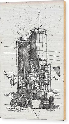 Wood Print featuring the mixed media Ingram Plant 2 by Tim Oliver