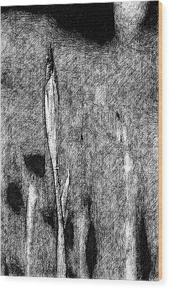 Ink Iris Wood Print by Yevgeni Kacnelson