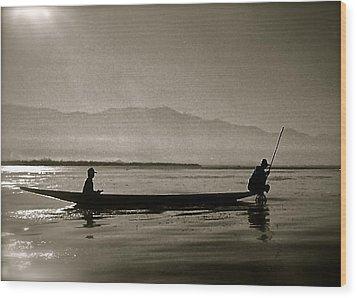 Inle Fishermen Wood Print
