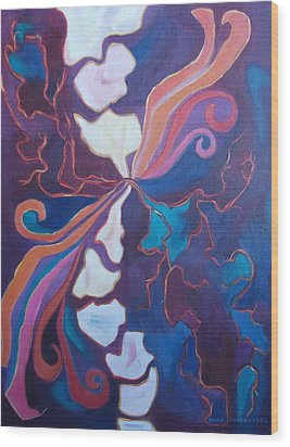 Inner Agony Wood Print by Suzanne  Marie Leclair