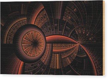 Wood Print featuring the digital art Inner Core by GJ Blackman