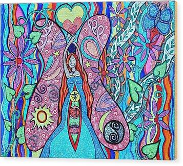 Inner Goddess Wood Print by Kim Larocque