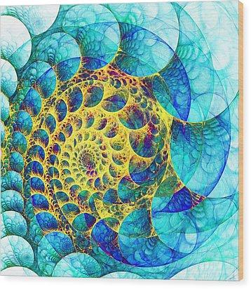 Inner Structure Wood Print by Anastasiya Malakhova