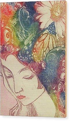 Inner Thoughts Wood Print by Juliann Sweet