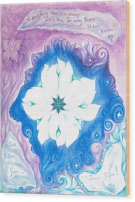 Inner Voice Wood Print by Lydia Erickson