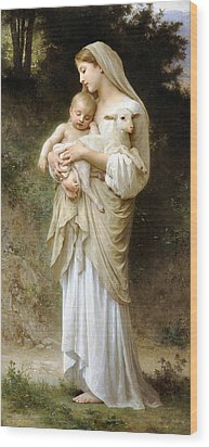Innocence Wood Print by William Bouguereau