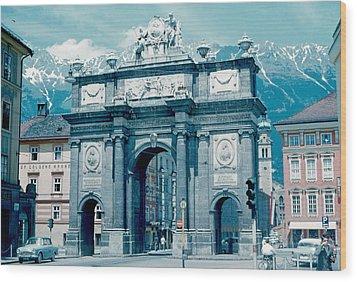 Innsbruck Austria 1962 Wood Print by Cumberland Warden