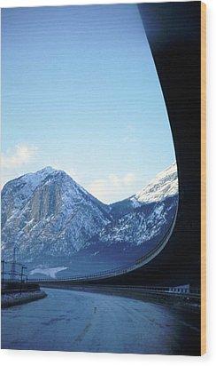 Innsbruck's Mountains Wood Print