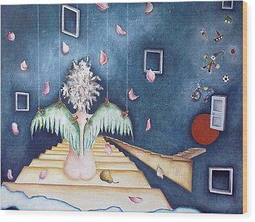 Inocencia Momentanea Wood Print by Belen Jauregui