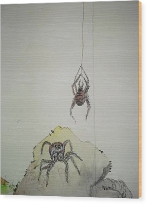 Insects That Crawl And Fly Album Wood Print by Debbi Saccomanno Chan