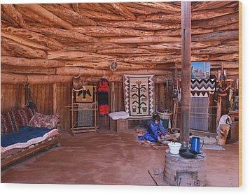 Inside A Navajo Home Wood Print