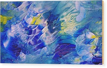 Inside A Wave Wood Print