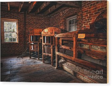Inside Kerr Mill I - North Carolina Wood Print by Dan Carmichael