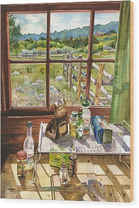 Inside My Cabin Wood Print by Anne Gifford