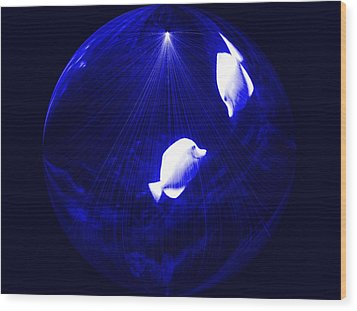 Inside My Own Planet Digital Art By Saribelle Rodriguez Wood Print