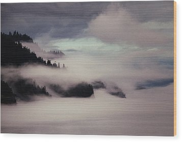 Inside Passage In The Mist Wood Print by Vicki Jauron