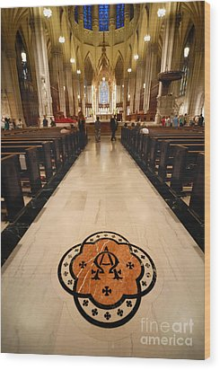 Inside St Patricks Cathedral New York City Wood Print by Amy Cicconi