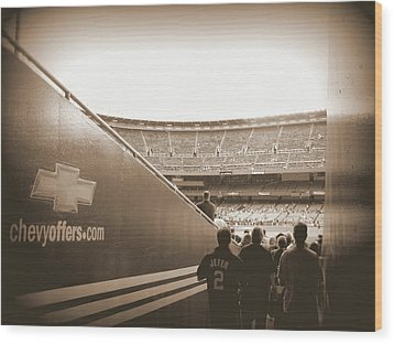 Wood Print featuring the photograph Inside The Cathedral Of Baseball by Aurelio Zucco