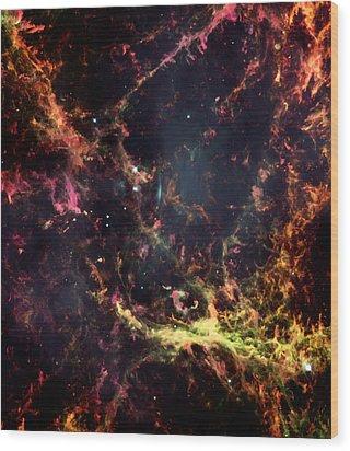 Inside The Crab Nebula  Wood Print by Jennifer Rondinelli Reilly - Fine Art Photography
