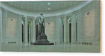 Inside The Jefferson Memorial Wood Print