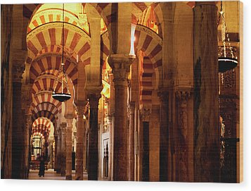 Wood Print featuring the photograph Inside The Mezquita by Lorraine Devon Wilke