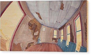 Inside The Old School House IIi Wood Print by Scott Kirby