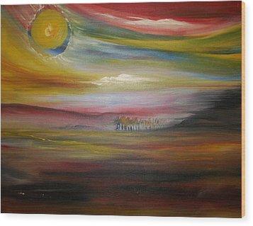 Inside The Sunset Wood Print by Jake Huenink