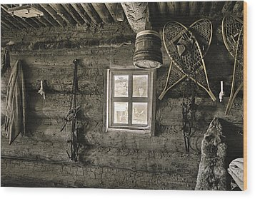 Inside Trading Post Montrose Co Wood Print by James Steele