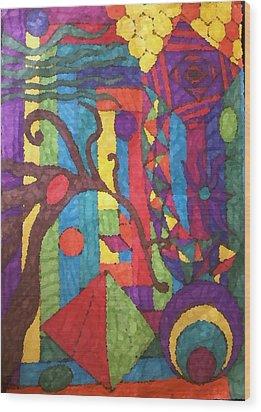 Insomnia 1 Wood Print by Sarah E Kohara