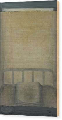 Insomnia - Lying On The Back Wood Print by Oni Kerrtu