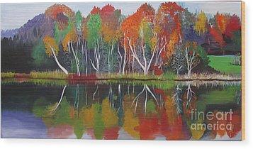 Inspiration Autumn Evening Wood Print