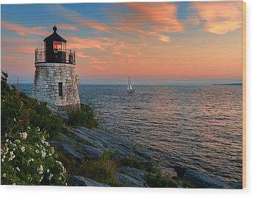Inspirational Seascape - Newport Rhode Island Wood Print by Thomas Schoeller