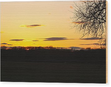 Wood Print featuring the photograph Inspirational Sunset  by Ann Murphy
