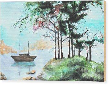 Inspired Wood Print by Anna Androsovski