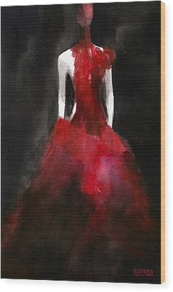 Inspired By Alexander Mcqueen Fashion Illustration Art Print Wood Print