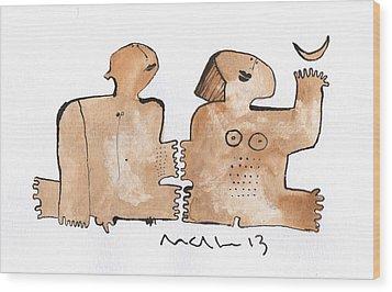 Instar No.1  Wood Print by Mark M  Mellon