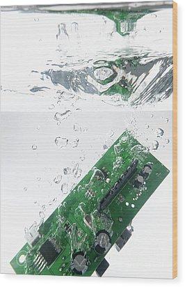 Integrated Circuit Underwater Wood Print by Sami Sarkis
