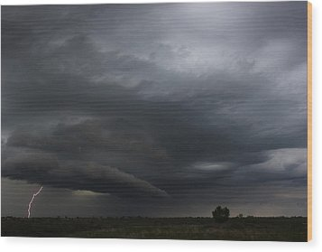 Wood Print featuring the photograph Intense Storm Cell by Ryan Crouse