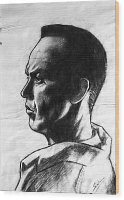 Wood Print featuring the painting Michael Keaton by Salman Ravish