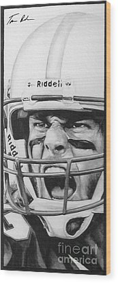 Intensity Tom Brady Wood Print