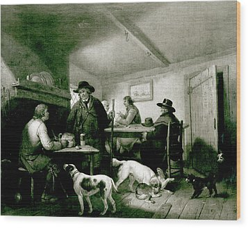 Interior Of A Country Inn Wood Print by George Morland