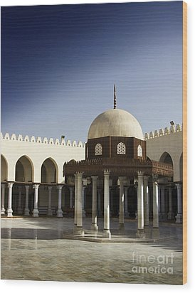 Wood Print featuring the photograph Interior Of Islamic Mosque by Mohamed Elkhamisy