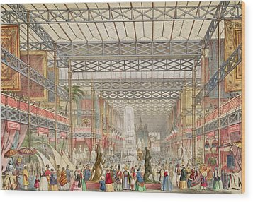 Interior Of The Crystal Palace, Pub Wood Print by Augustus Butler