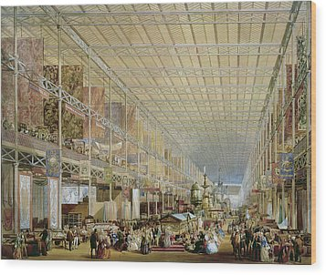 Interior Of The Great Exhibition Of All Wood Print by Edmund Walker