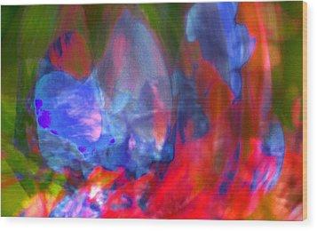 Wood Print featuring the digital art Interior by Richard Thomas