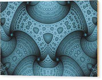Interlocking Patterns Wood Print by Mark Eggleston