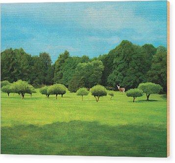 Wood Print featuring the digital art Interloper by David Klaboe