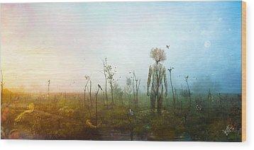 Internal Landscapes Wood Print by Mario Sanchez Nevado